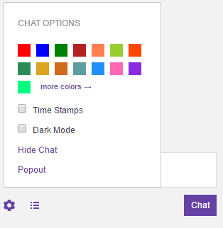 how to change color in twitch chat